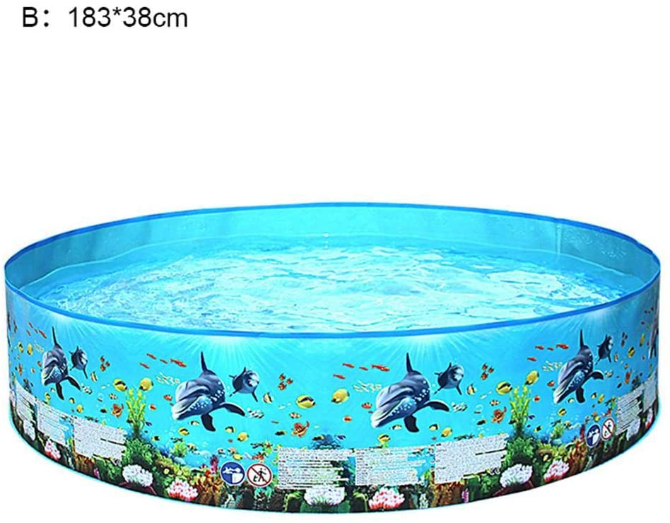 Grehod Home Courtyard Swimming Pool Children's Paddling Plastic Ocean Round Outdoor Summer Party Beach Family Entertainment Leisure Without Water Pipes