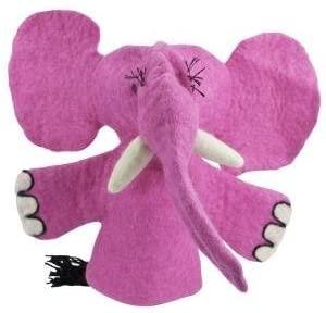 Fair Trade Hand Puppet Elephant Dzi Wild Woolie