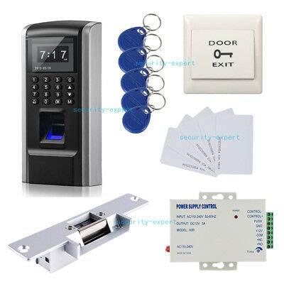 Biometric Fingerprint Access Control Time Attendance & Strike NO Lock Power Unit
