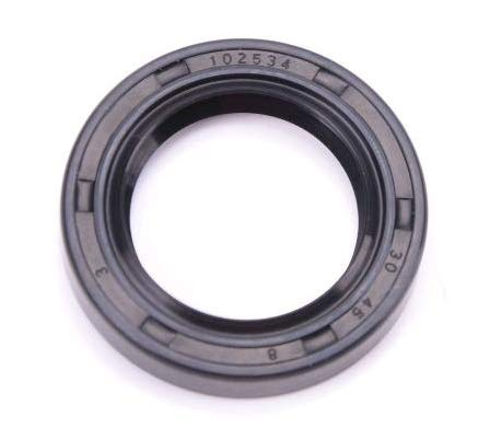 EAI Oil Seal 30mm X 45mm X 8mm (2 PCS) TC Double Lip w/Spring. Metal Case w/Nitrile Rubber Coating