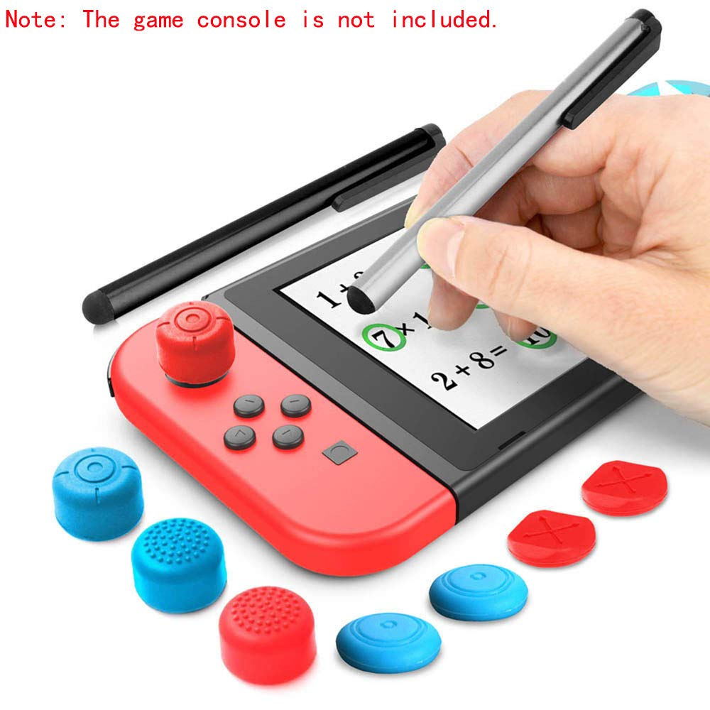 YTTL Touch Stylus Pen Touchpen for Nintendo Switch, Stylus Pens and Thumb Caps for Jon-con NS & Nintendo Switch Lite