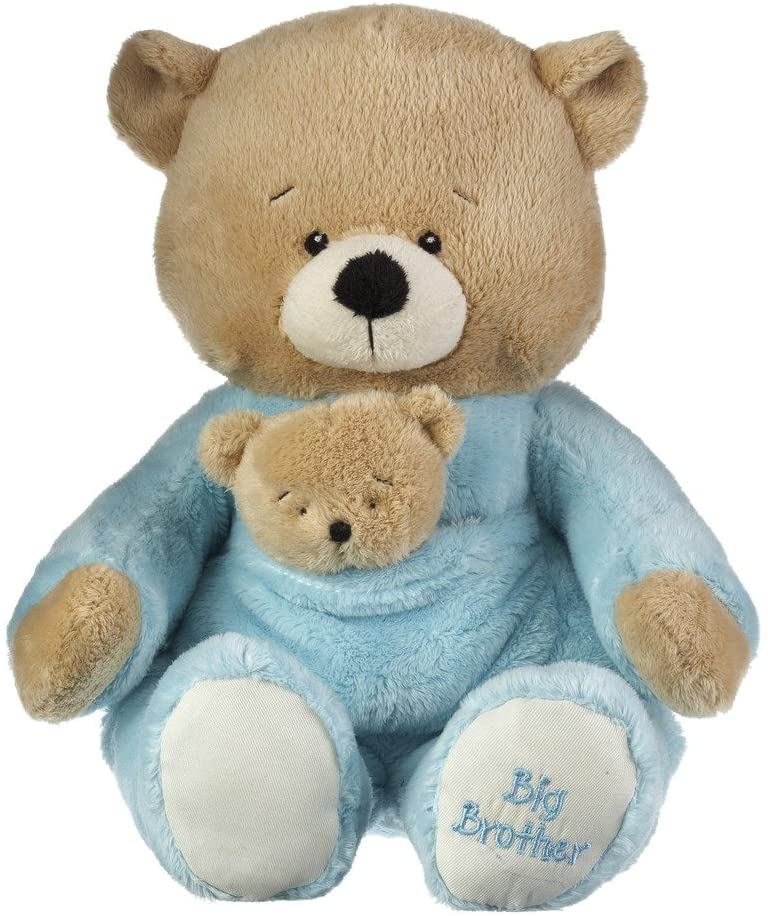 Ganz Baby Boy 14 inches Plush Stuffed Animal Toy Big Brother Bear & Rattle