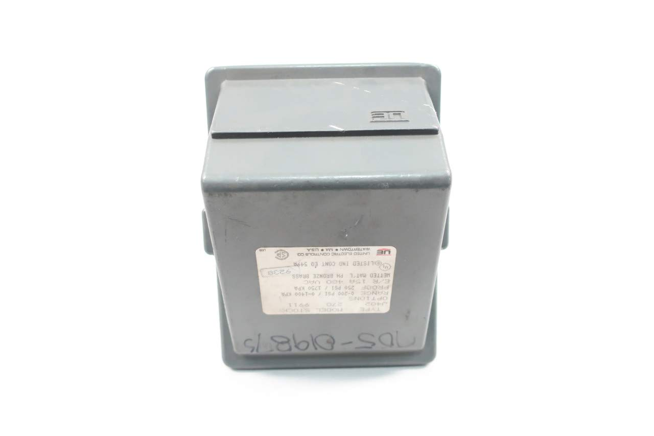 UE UNITED ELECTRIC J402-270 Pressure Switch 250PSI Proof 0-200PSI 480V-AC 1/4IN
