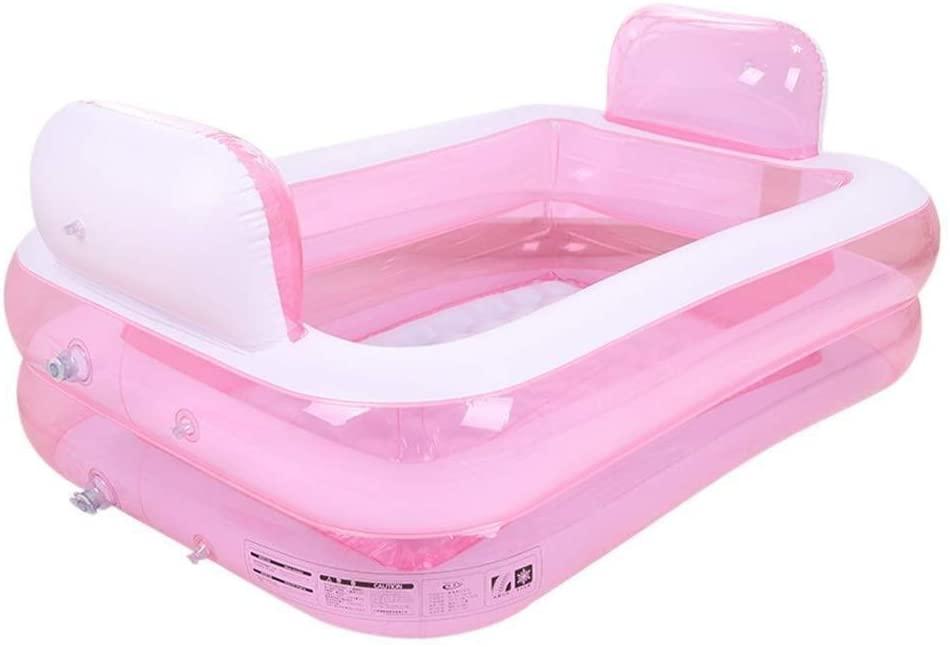 SDSL Baby Bath Child Inflatable Swimming Pool Household Foldable Bath Barrel Plastic Paddling Pool Pink GW Folding tub
