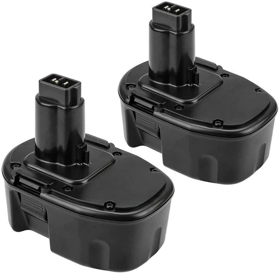 2Pack 14.4V 3600mAh Battery for Dewalt Ni-Mh Replacement XRP DC9091 DW9091 DW9094 DE9031 DE9038 DE9091 DE9092 DE9094 DE9502 Cordless Tools