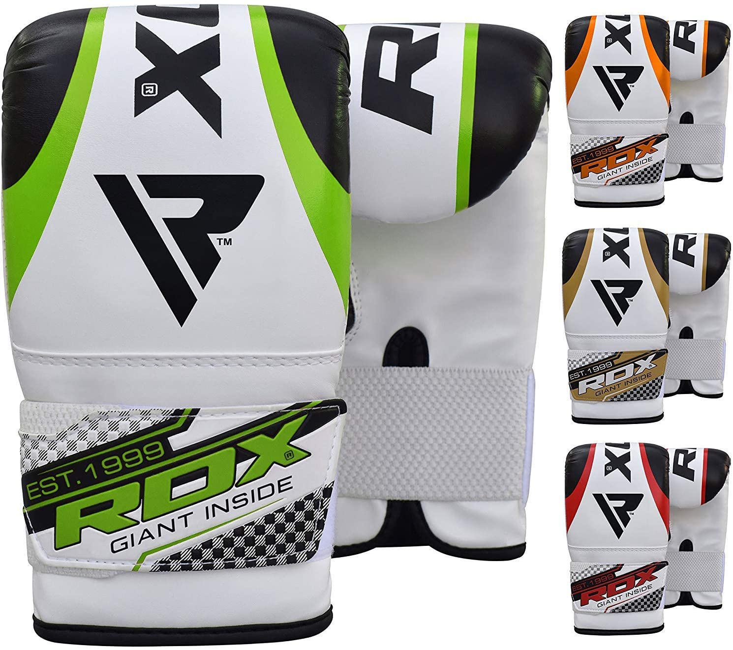 RDX Punching Gloves for Heavy Punch Bag, Maya Hide Leather Muay Thai, Kickboxing, MMA, Martial Arts Workout Mitts, Great for Focus Pads, Thai Pads, Double End Speed Ball, Grappling Dummy Training