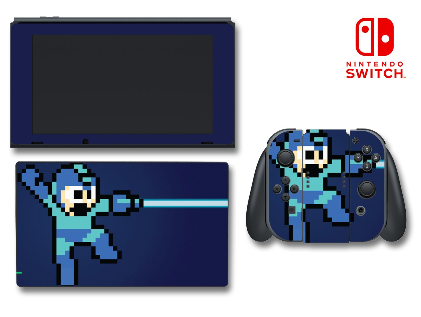 Mega Man Rockman Megaman Rock Retro Pixel Video Game Vinyl Decal Skin Sticker Cover for Nintendo Switch Console System
