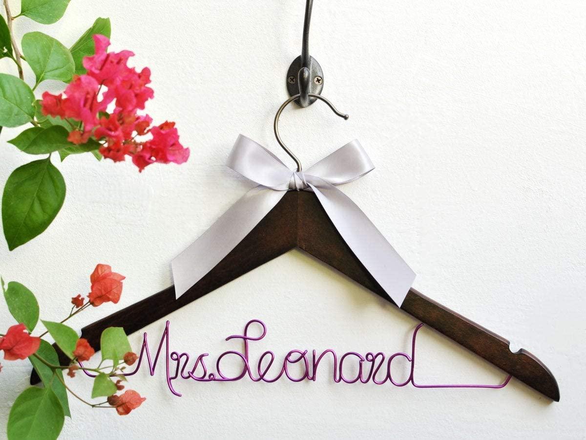 Flowershave357 Wedding Dress Hanger Personalized Customize Bridesmaid Hanger Bridal Shower Gifts Bride Name Hanger Bridal GiftBridal Hanger