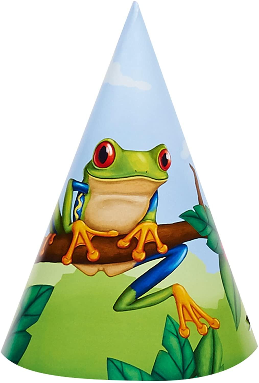 BirthdayExpress Jungle Party Supplies - Cone Hats (8)