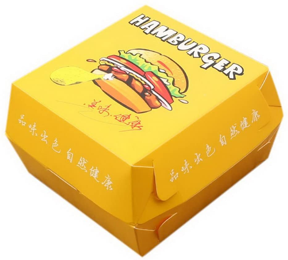 Gentle Meow 100 Pack Disposable Hamburger Boxes Rice Ball Chicken Roll Food Packing Bags, 04