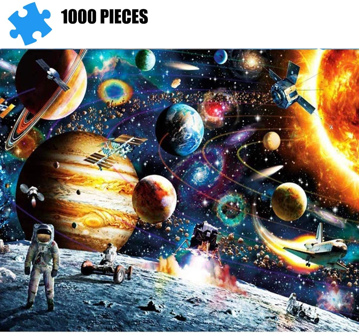 Puzzles for Adults 1000 Piece Jigsaw Puzzle - Outer Space, Educational Intellectual Decompressing Toy Fun Family Game for Kids Adults