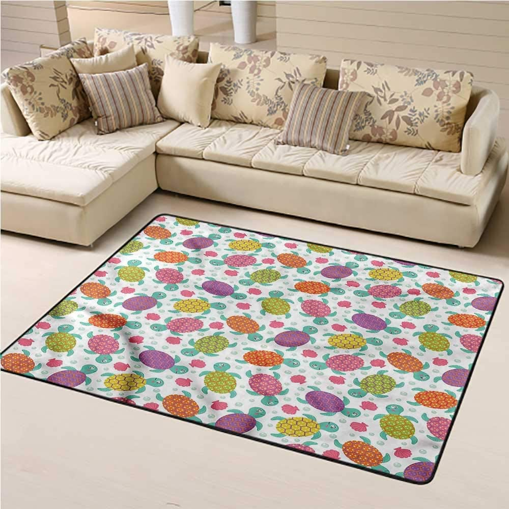 Kids Area Rugs Aquarium Kids Play Rug Shells Oysters and Pearl 5' x 7' Rectangle