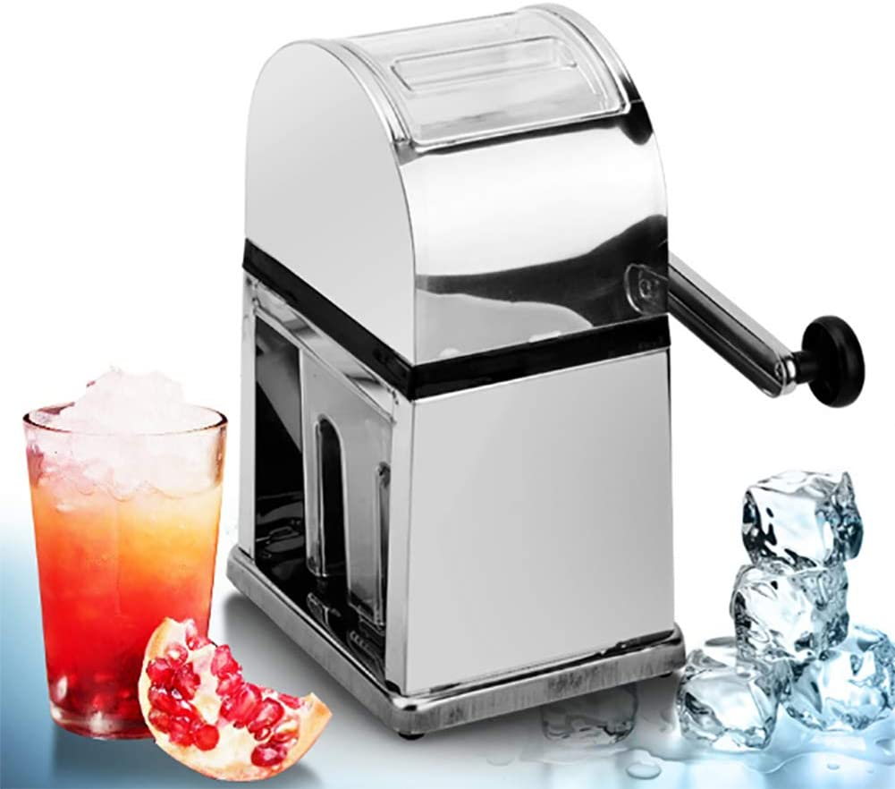 Snow Cone Machine and Ice Shaver Premium Portable Ice Crusher and Shaved Ice Machine with Ice Cube Trays