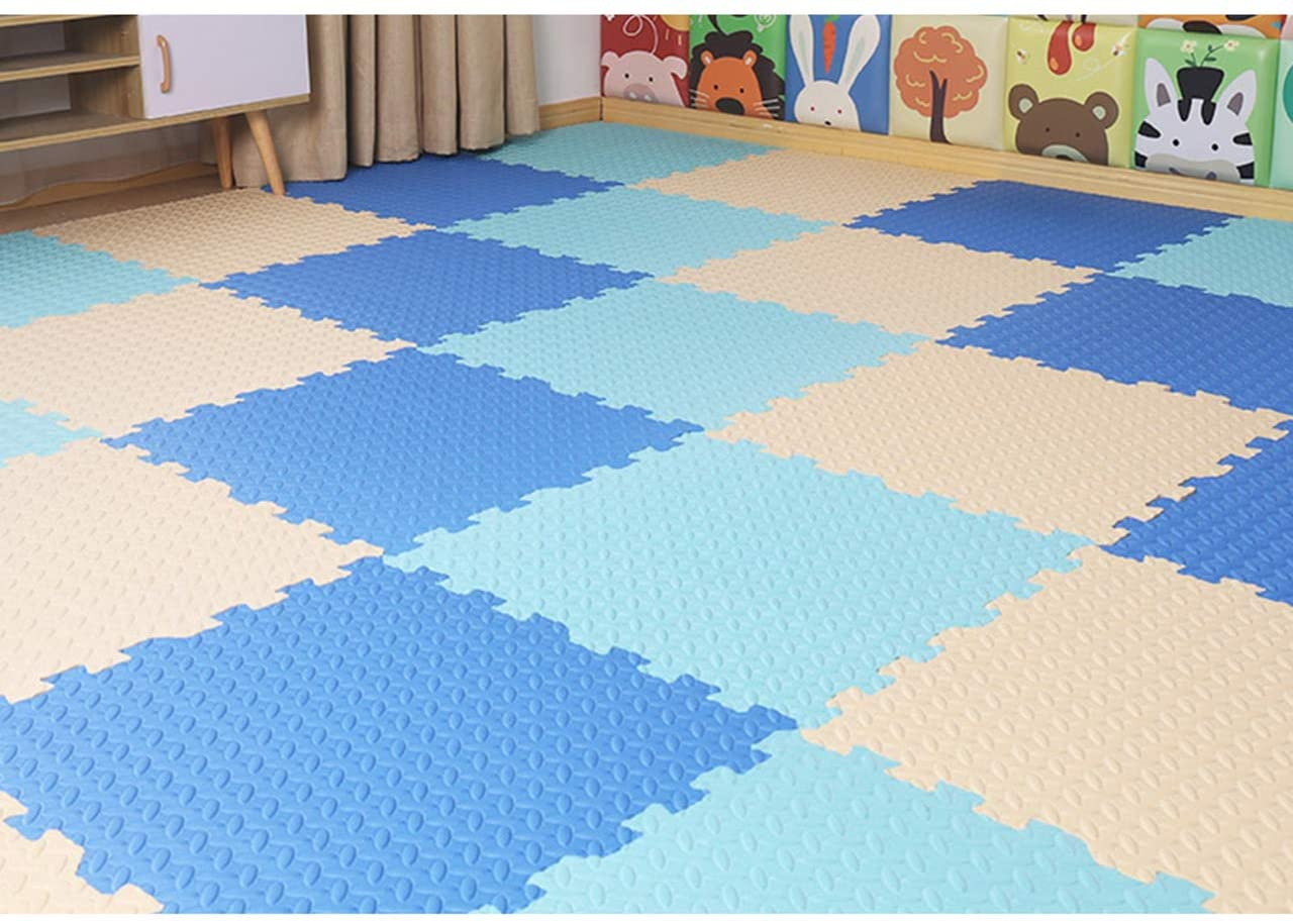 HOMRanger Solid Puzzle Play Mat,pe Padding Soft Floor Tiles Interlocking Carpet for Hard Tiles Bedroom Living Room Exercise Play H 30301.2cm(16 Pack)