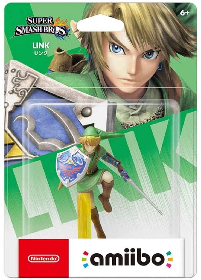 LRW Link Amiibo: Link Super Smash Bros. Series Figurine! Legend of Zelda Action Figure Game Masterpiece Collectible Figure from Super Smash Bros. Series (Japan Import Wii U/ 3DS/ Switch) anmie