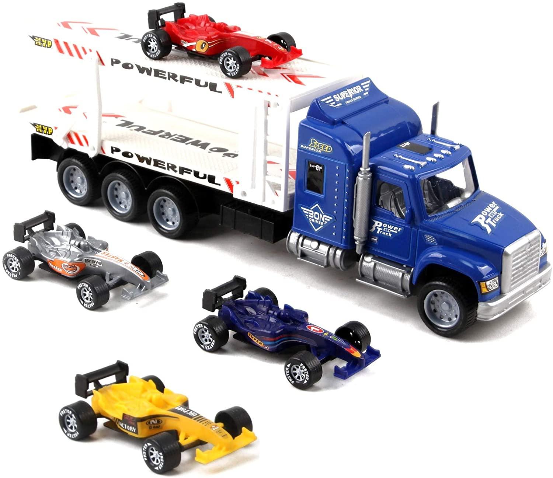 Vokodo Friction Powered Toy Semi Truck Trailer 14.5