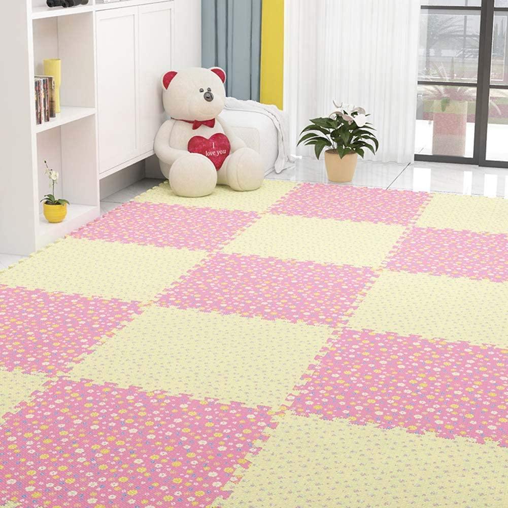 LZDX Children Jigsaw Tiles Playmat, Multi-Coloured Interlocking Eva Foam Play Mat,for Crawling and Learning 100% Safe,F,60601.2cm(4PCS)
