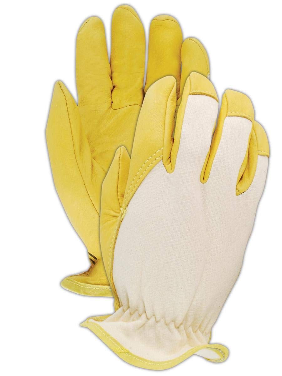 Magid Glove & Safety 1273DE-8 DuraMaster 1273DE Goat Grain Leather Jersey Back Drivers Gloves, Size 8 (Pack of 12)