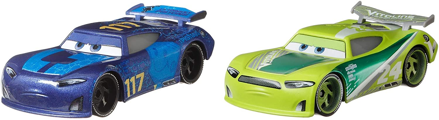 Disney Pixar Cars Spikey Fillups and Chase Racelott 2-Pack Toy Cars