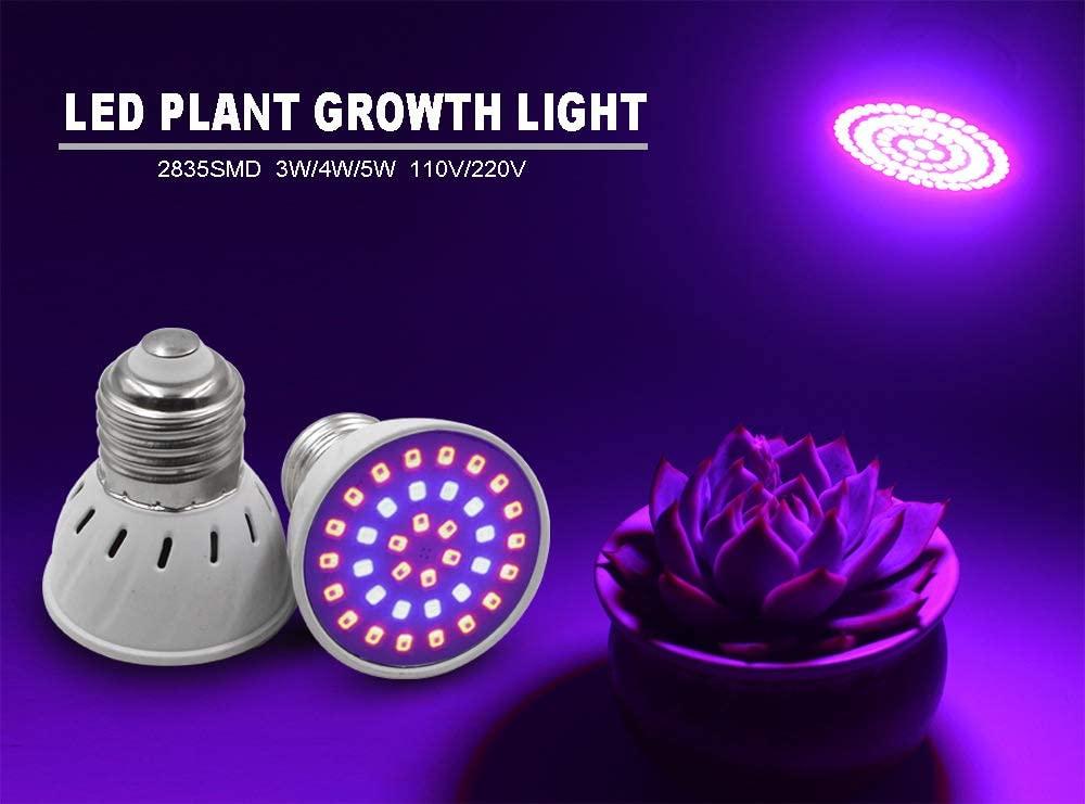 Mgsirc Led Plant Lamp, E27 E14 Growing Lamps, Grow Lamp Full Spectrum Grow Lamp 6W / 18W / 24W Plant Grow Light