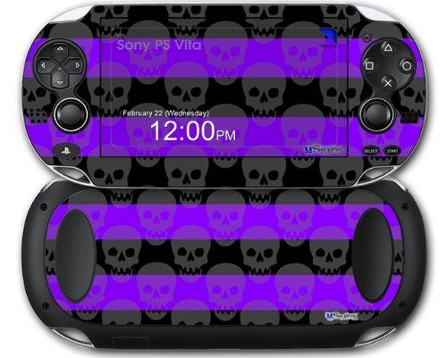 Skull Stripes Purple - Decal Style Skin fits Sony PS Vita