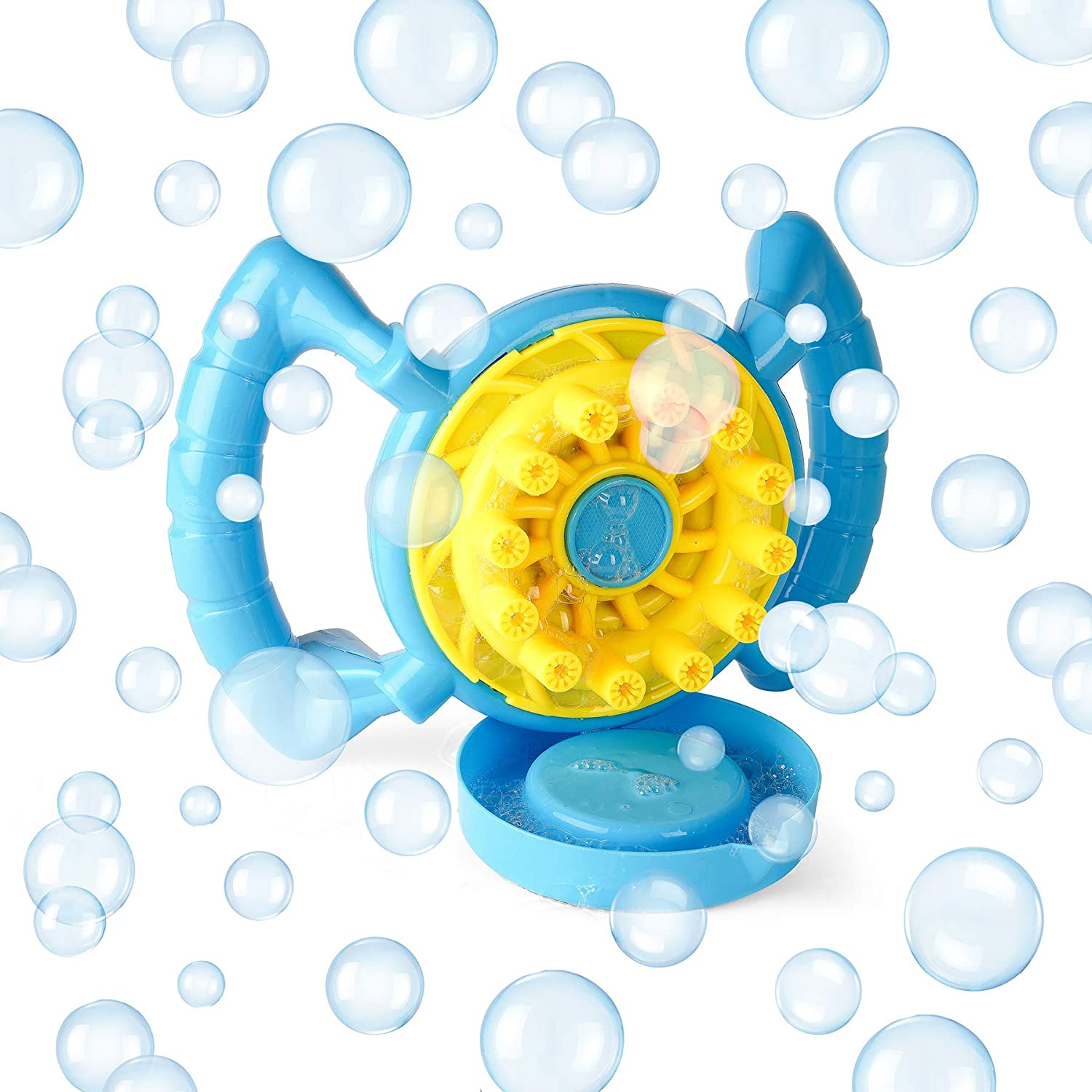 Neliblu Kids Bubble Machine - Bubble Blowing Steering Wheel - Battery Operated Kid Friendly and Easy to Use