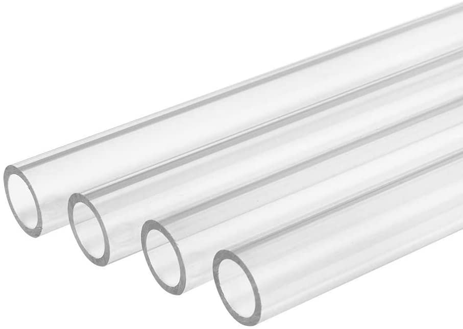SZQL Polycarbonate Tubing, Round Clear Tube PMMA Pipe Chemical Resistance Unbreakable,Diameter:22mm