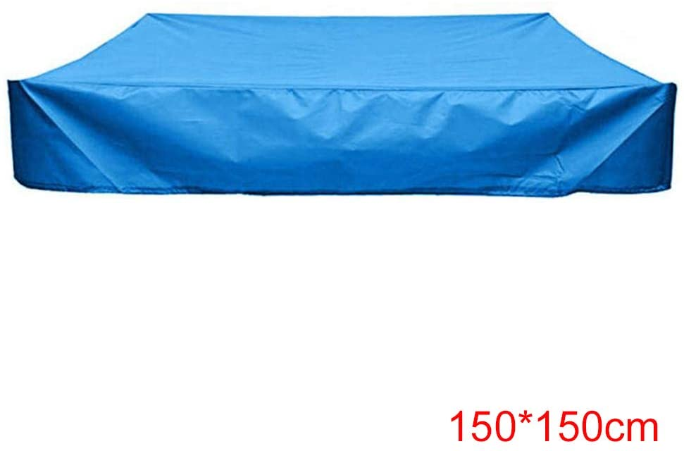 Adealink Square Dustproof Protection Sandbox Cover Waterproof Sandpit Pool Cover with Drawstring