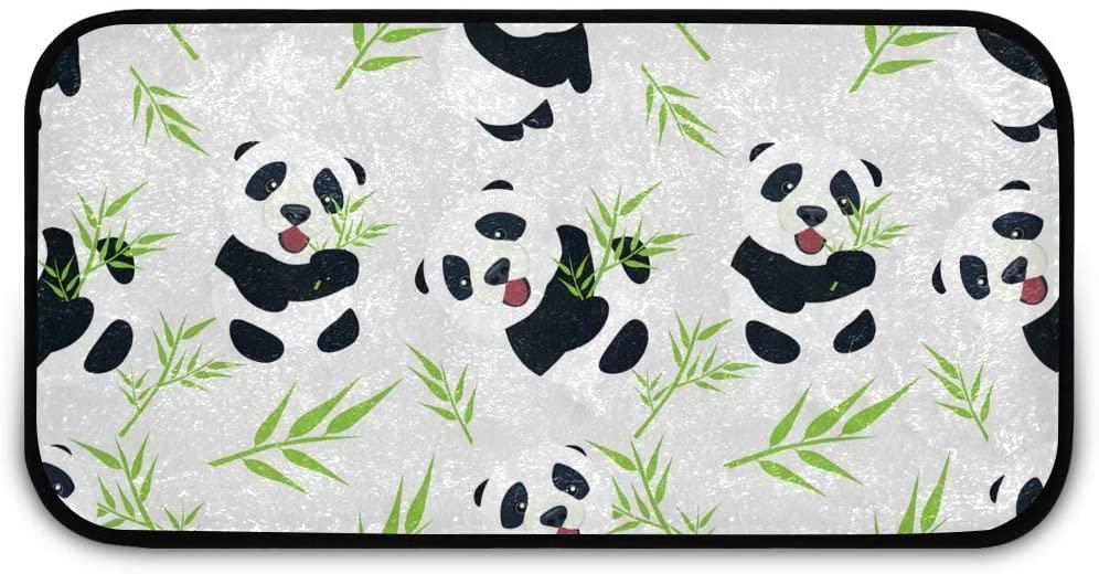 Rectangle Shaggy Rug Kitchen Mat for Kids Cute Panda Farmhous Anti-Slip Rug Rectangle Carpet Play Mat