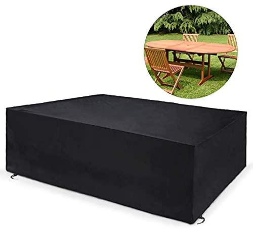 Marching orchid 210D Oxford Furniture Cover, Outdoor Dust Garden Waterproof Cover Table Cover (Size : 325×208×58cm)