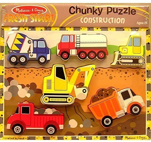 MELISSA & DOUG CONSTRUCTION CHUNKY PUZZLE (Set of 3)