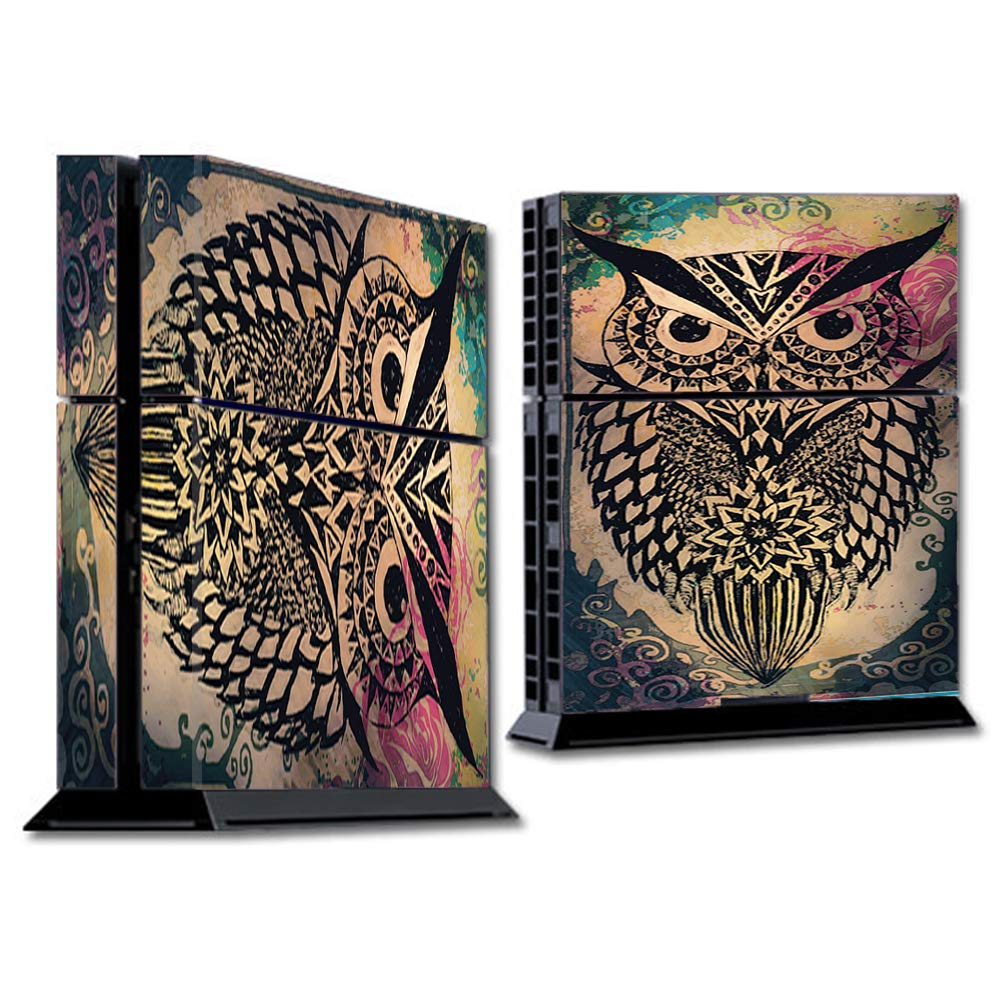 Skins Wrap for PS4 Sony Playstion Console - Protective Decal Overlay stickers skins cover - Tribal Abstract Owl