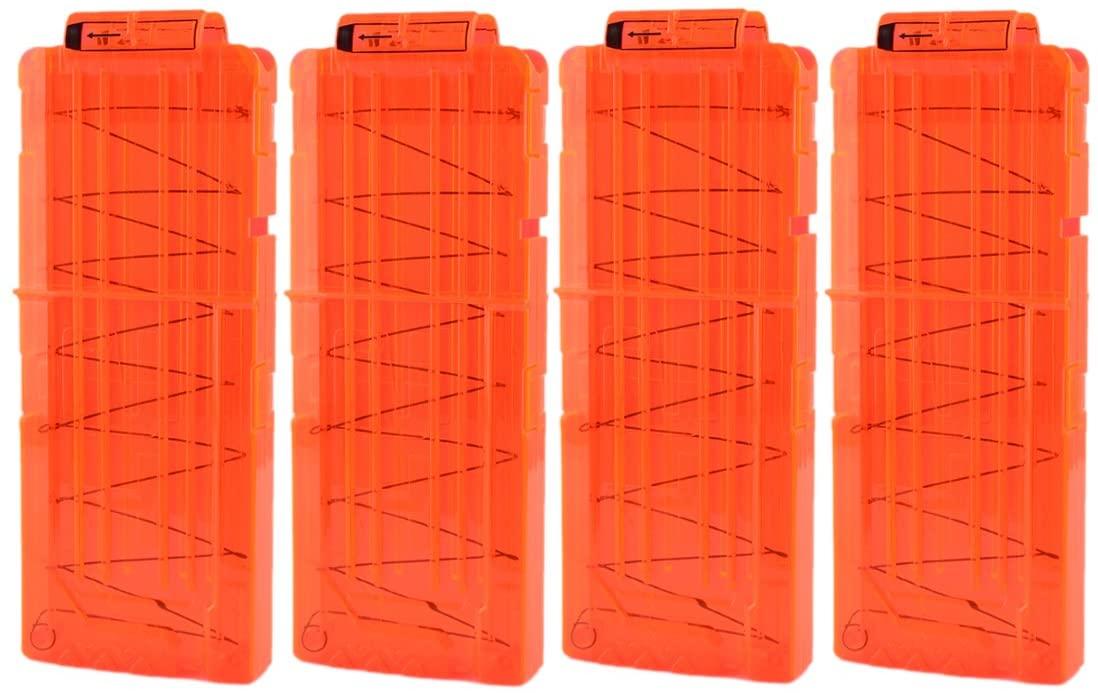 PeleusTech Dart Clip Soft Bullet Clip Magazines Clip for Nerf Toy 12 Bullets - 4Pack