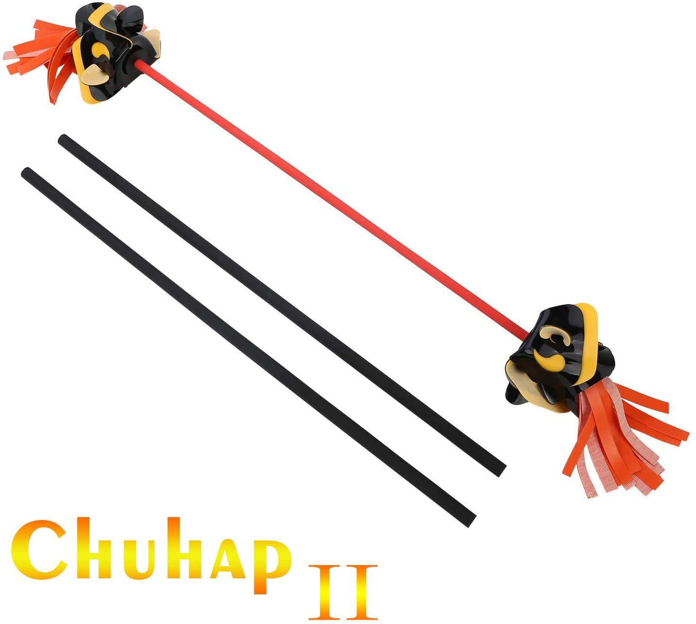 ChuhapII Professional Juggling Flower Sticks Devil Sticks (30.3