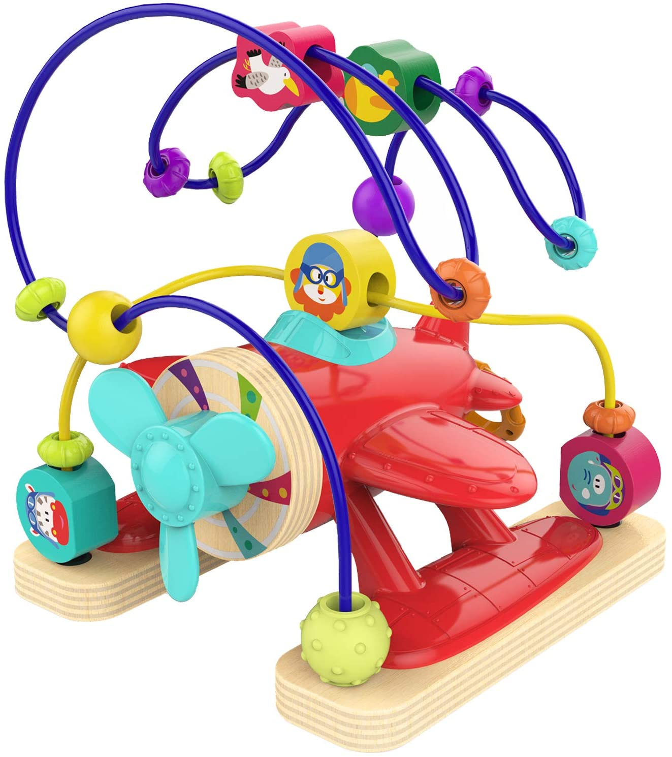 TOP BRIGHT Bead Maze Toys for 1 Year Old Boy Gifts - Educational Bead Maze for Toddlers Boy One Year Old Airplane Toys