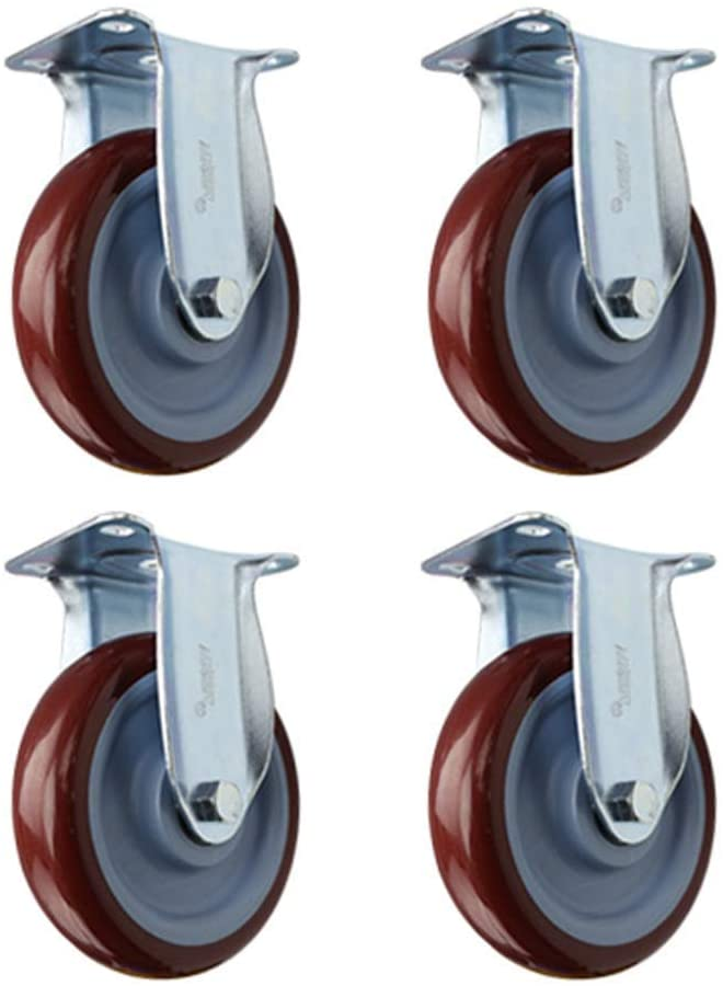 4X Orientation Heavy Duty Rubber Casters, Universal Silent Castor Wheels for Sofa Sliding Doors Table Trolley Furniture