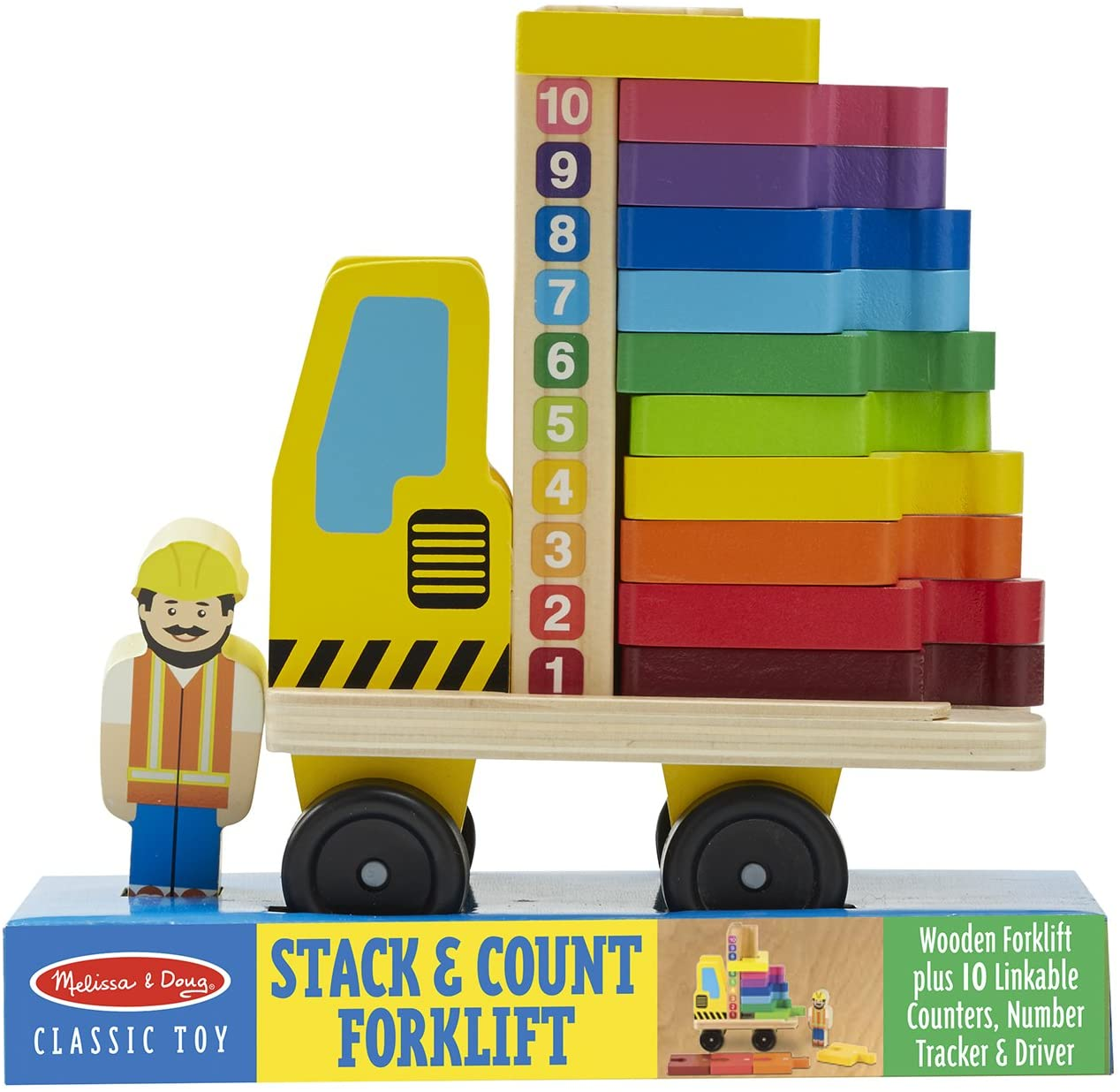 Melissa & Doug Stack and Count Forklift Play Set (13 pcs)