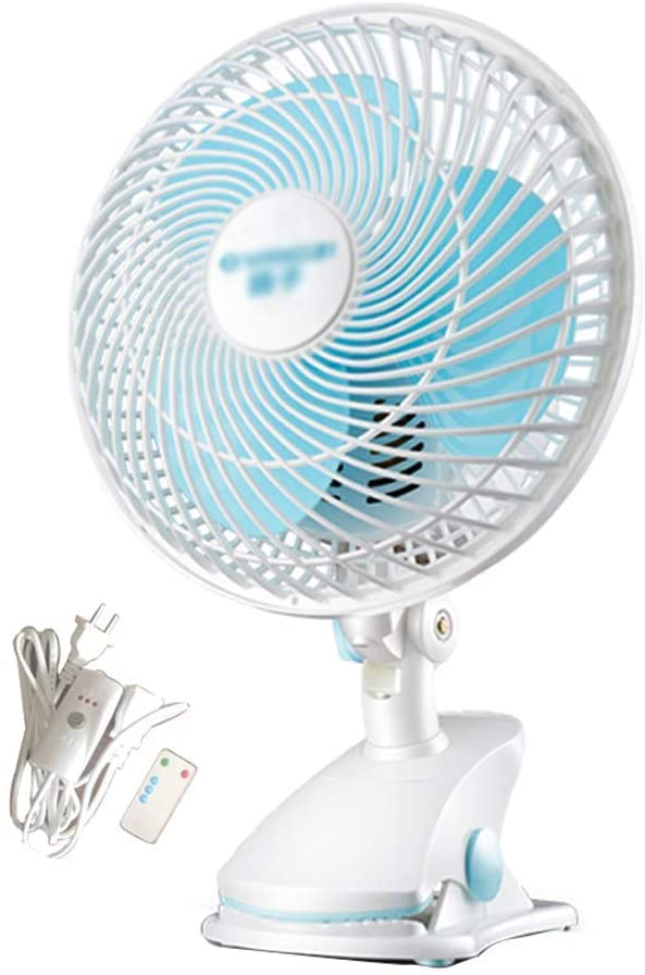 ZXYY Professional Mini Clip Fan for Home Bed Office and Desk Small Electric Fan with Ultra Silent Operation and 2 speeds (9 inches White)