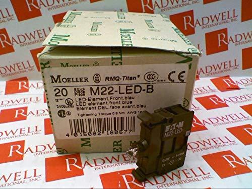 CUTLER HAMMER M22-LED-B LED, 12-630 V AC/DC, M22, Ligh Block, Blue