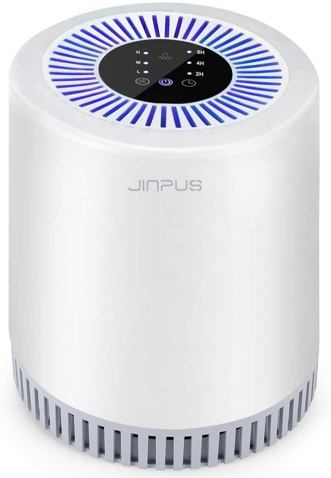 JINPUS Air Purifier 908, Home Air Purifiers with H13 True HEPA Filter, Unique Touch Screen, Timer, Blue Night Light Can be Turned Off