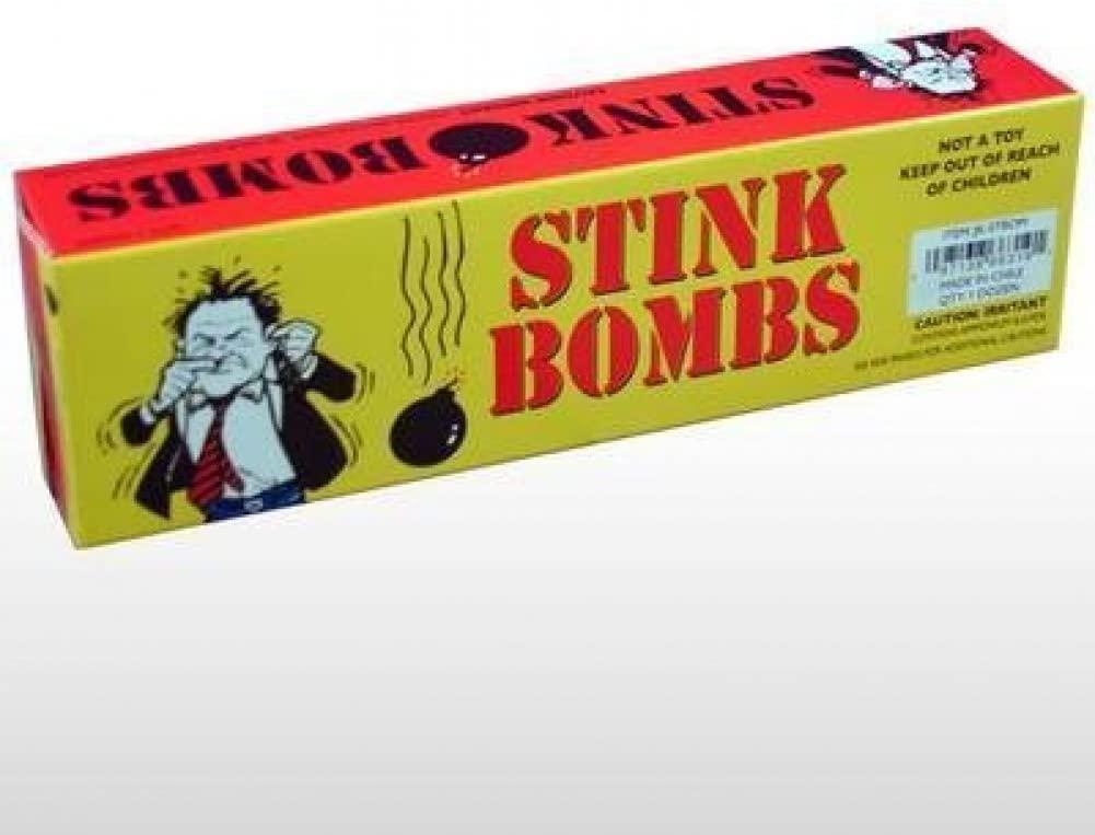 Rhode Island Novelty Stink Bombs Yellow Box