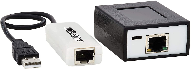 Tripp Lite USB Over Cat5/Cat6 Extender Kit 4-Port with PoC USB 2.0 164 ft. (B203-104-POC)