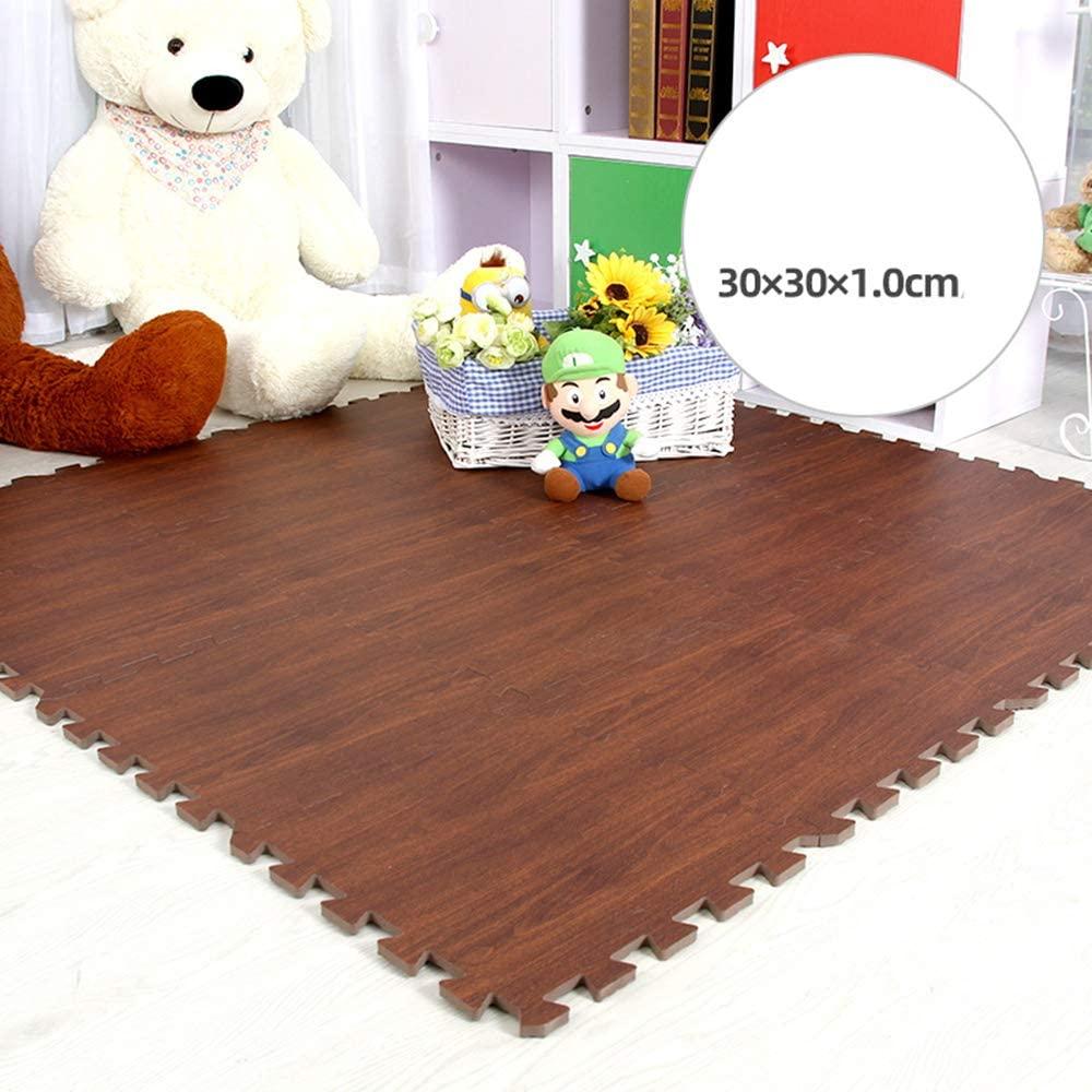 WYZBD Chain Foam pad Carpet Tiles Interlocking Jigsaw Puzzle mat Baby Nursery Children's playroom Decoration,C,6pcs