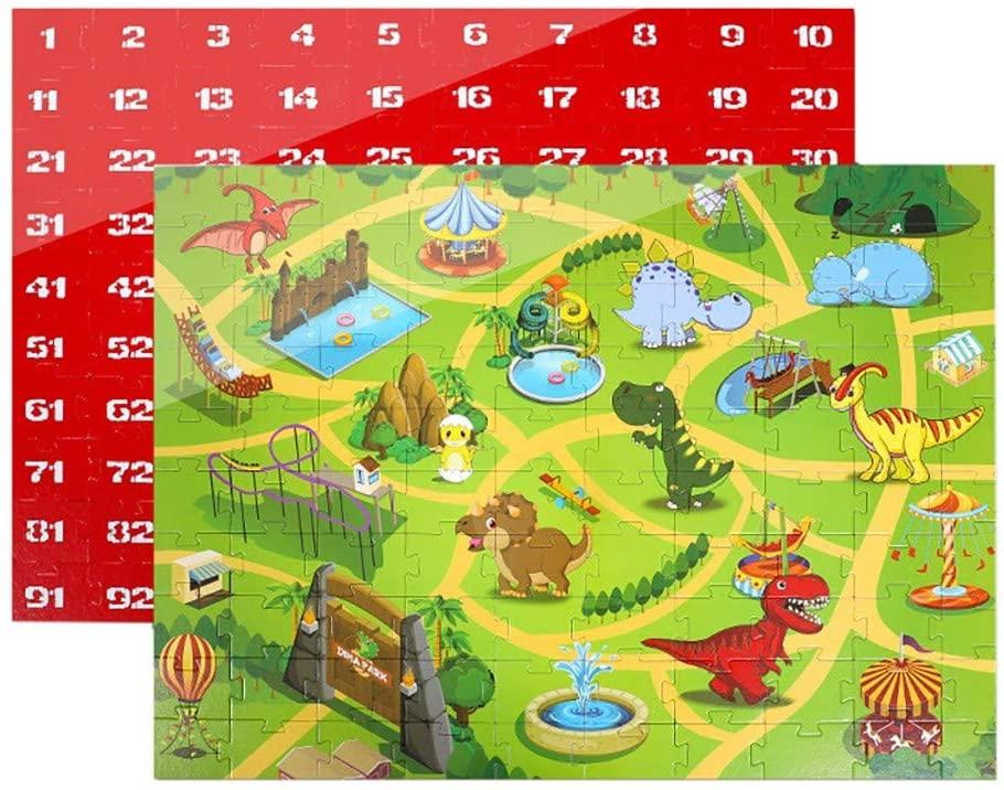 Ages 3-12 Kids Floor Puzzle, 100 Piece Dinosaur World Jigsaws Puzzle