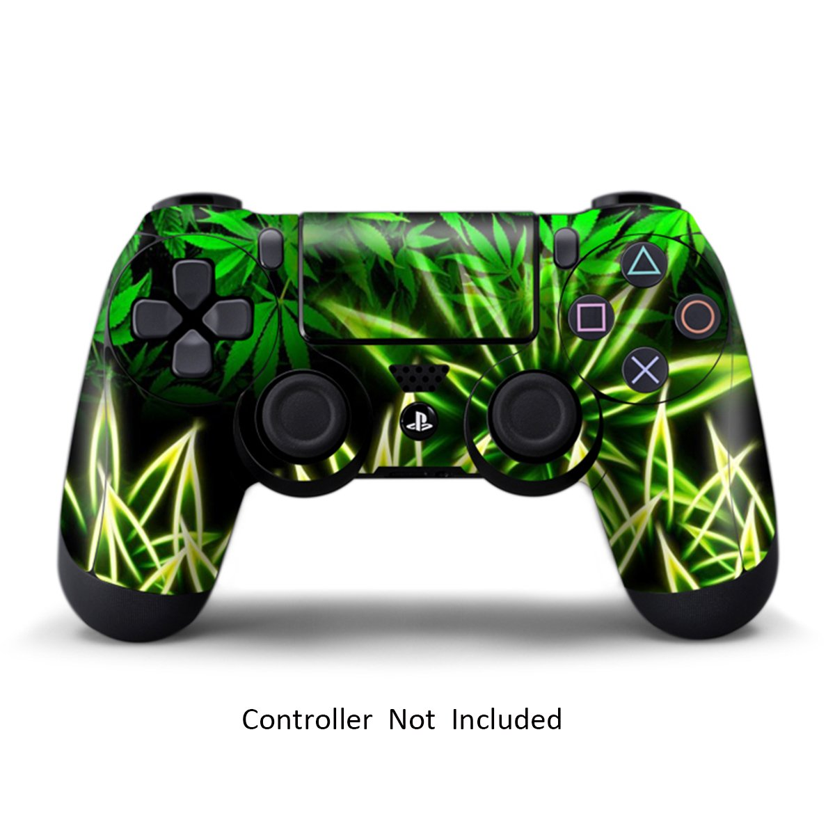 Skins for PS4 Controller - Stickers for Playstation 4 Games - Decals Cover for Sony Play Station 4 PS4 Pro Accessories PS4 Remote Wireless Dualshock 4 Skin - Weeds Black