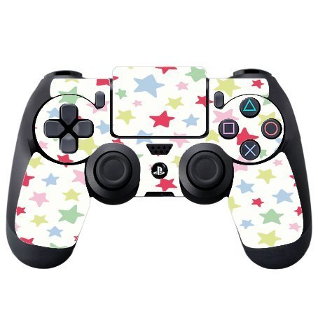 Fun Lots of Stars Colorful Vinyl Decal Sticker Skin by Debbie's Designs for PS4 DualShock4 Controller