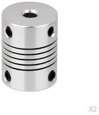 W-SHTAO Motors Motor Coupler Aluminum Alloy Joint Connector for DIY Encoder 19X25mm