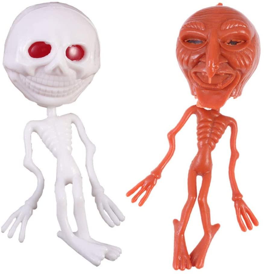 Holibanna Mini Alien Plastic Skeleton Trick Toys Halloween Party Bag Filler Kids Party Favors 2Pcs