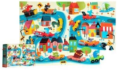 Mudpuppy Car Crazy Floor Puzzle