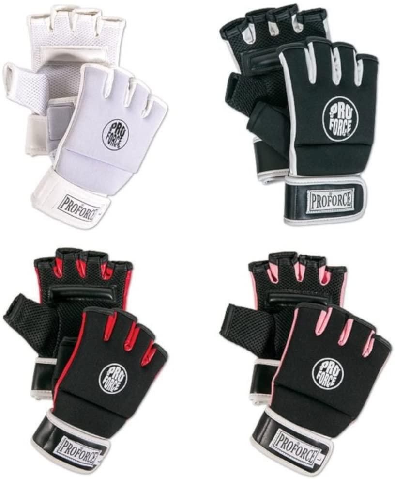 PROFORCE Kickboxing Fitness Gloves (Black/White, Small)